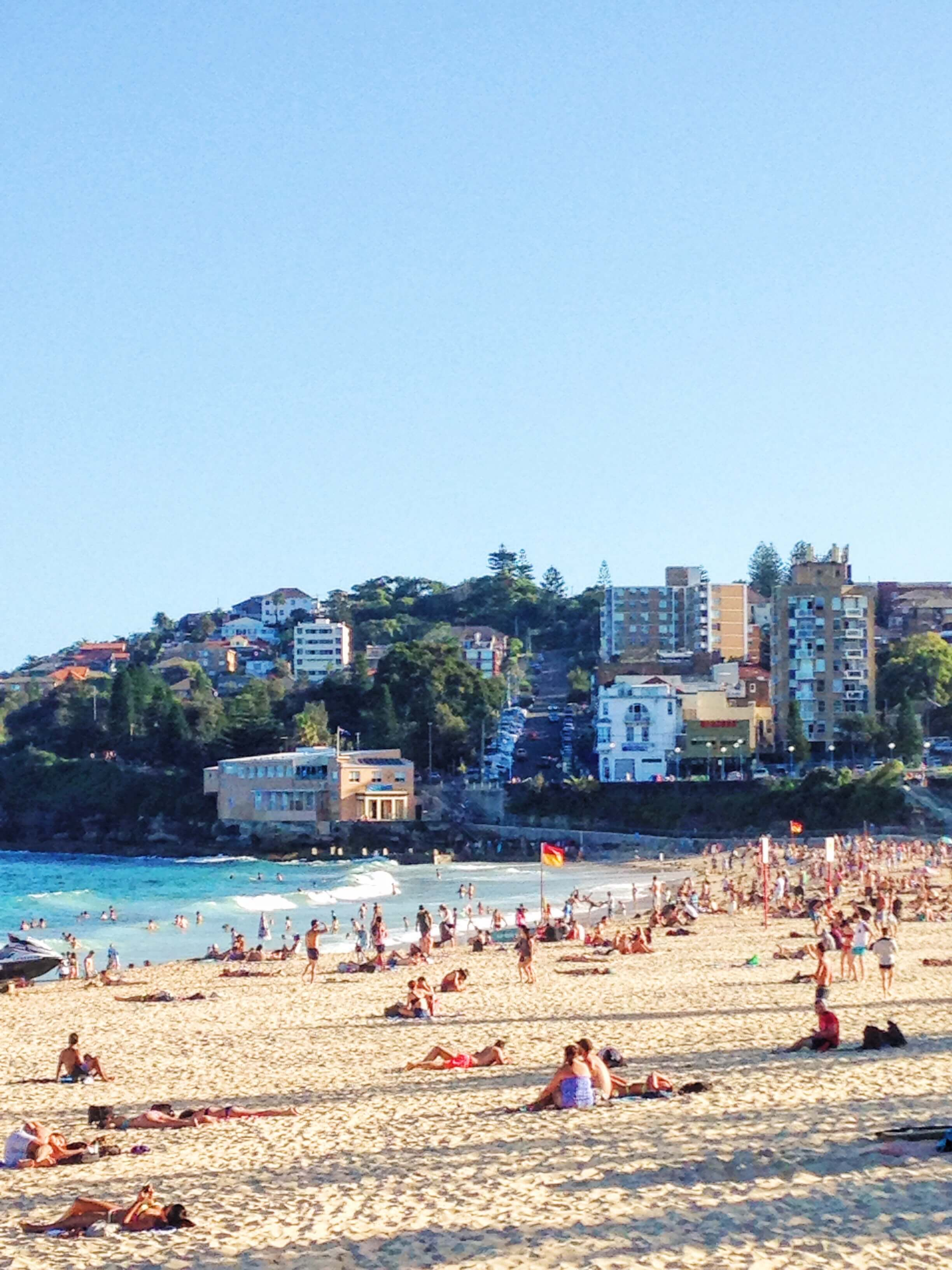 Looking south down Coogee Beach