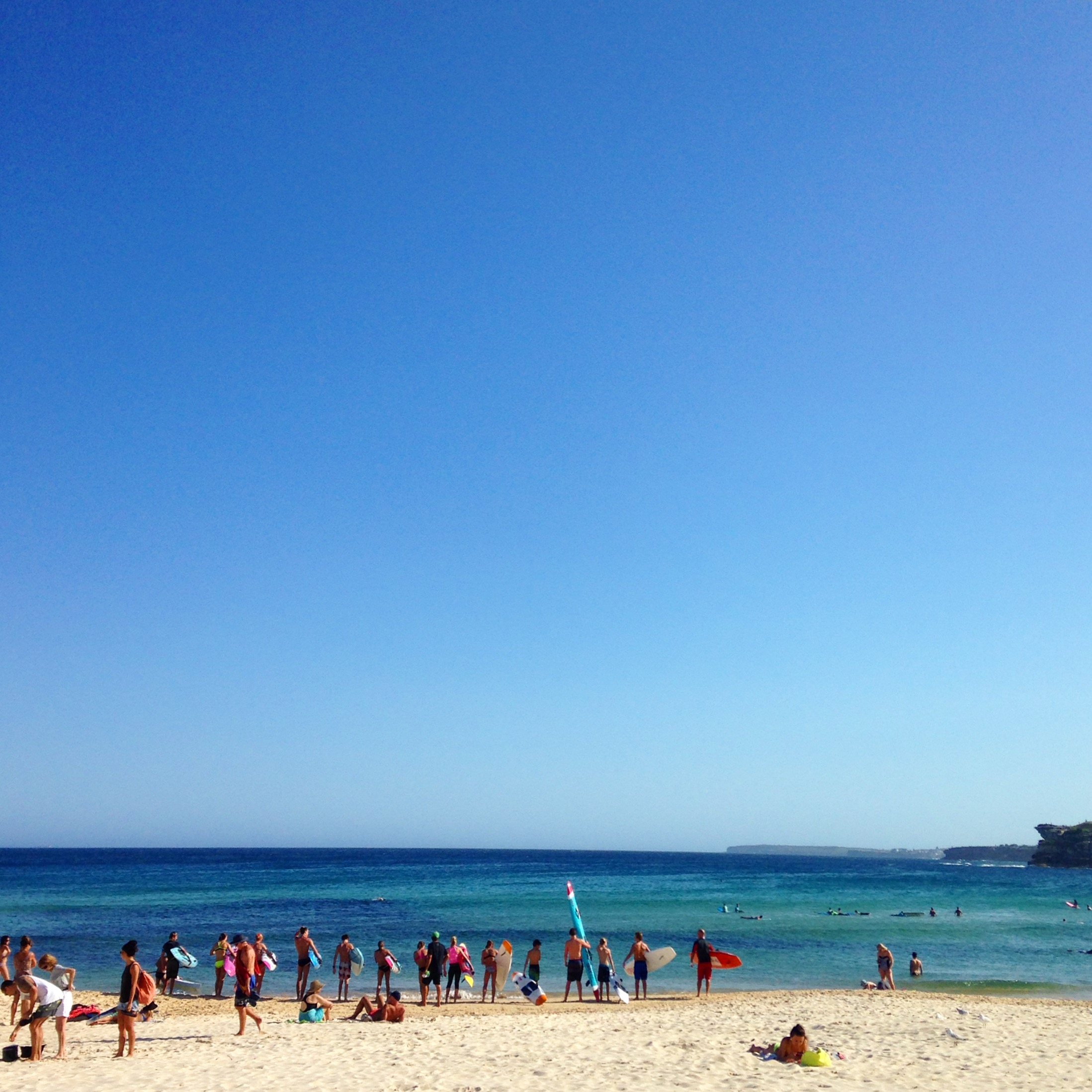 Blue skies and golden sands at Bondi Beach!