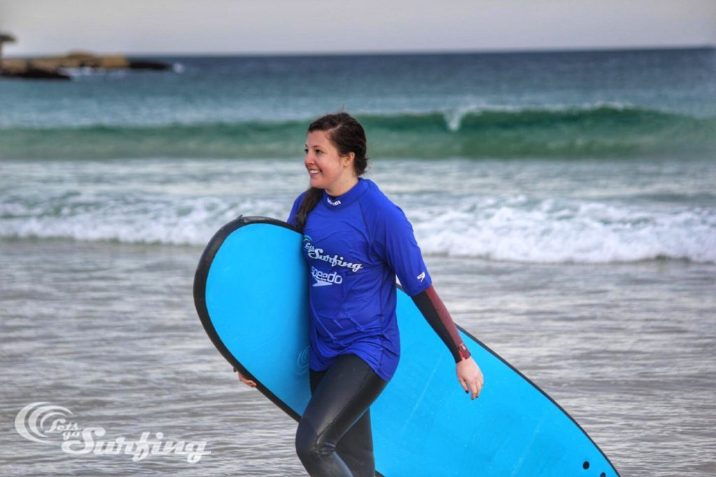 Surf Adventures in Sydney - returning from the surf!